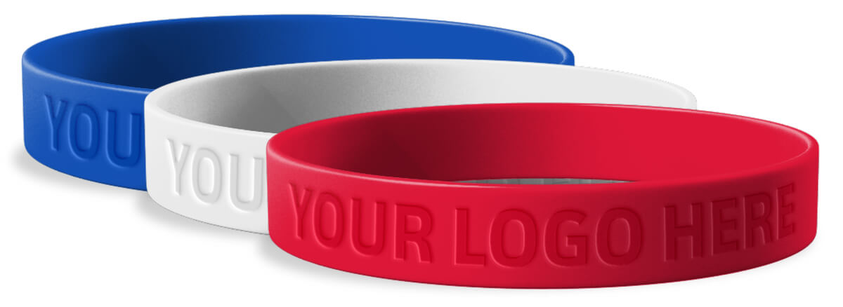 Custom Little League Rally Wristbands