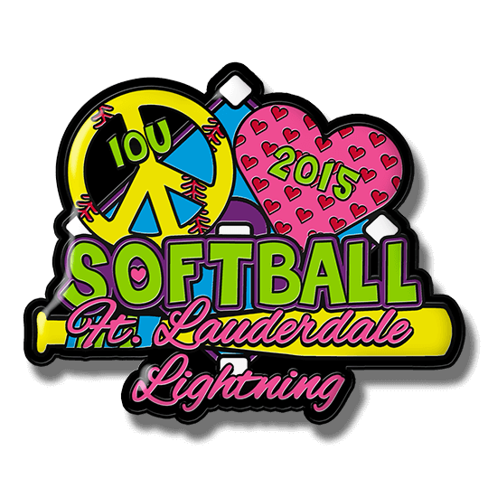 Softball Trading Pins 6