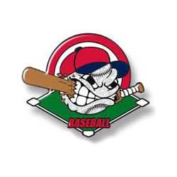 Baseball eating bat - red hat over green ball field - White ball